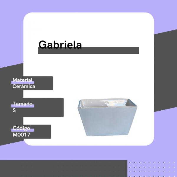 M0017 Maceta Gabriela Cerámica Replanto