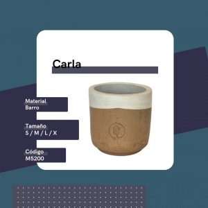 M5200 Maceta Carla Barro Replanto Blanco