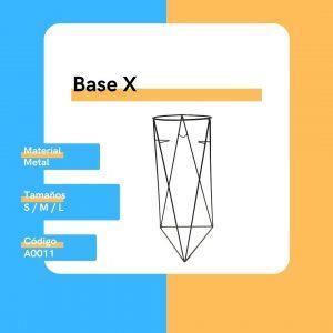 A0011 Accesorio Base X Metal Large Replanto