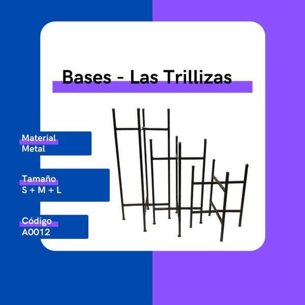 A0012 Accesorio Bases Las Trilllizas Metal Replanto